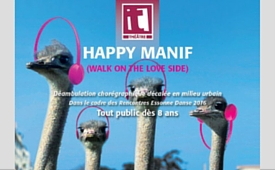 happy manif, déambulation chorégraphies