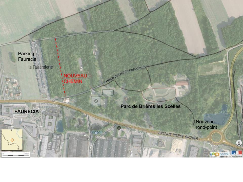 Nouveau chemin d'accès pour le parc de Brières