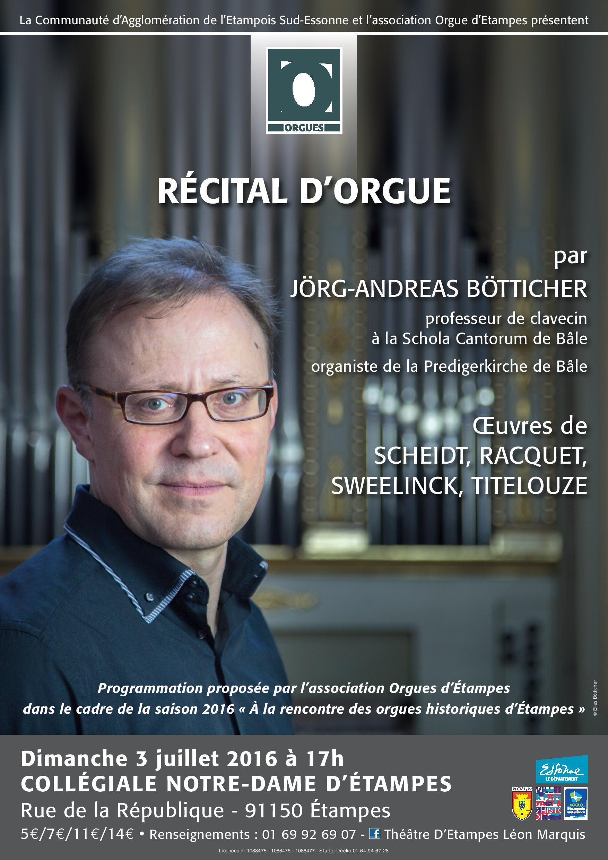 récital d'orgue à Etampes