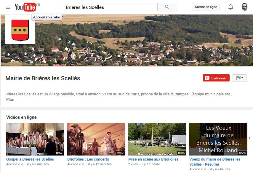 Brières les Scellés a sa chaine YouTube