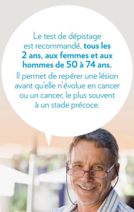 dépistage du cancer colo-rectal