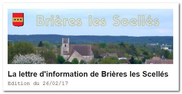 Lettre d'Information de Brières les Scellés