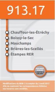 changement d'horaires de la ligne de bus de Brières
