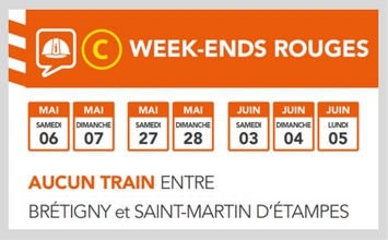 RER C week-ends rouges