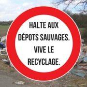 Recyclage des ordures à Brières les Scellés