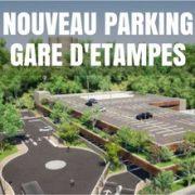parc relais de la gare d'Etampes