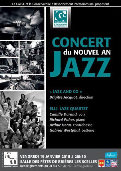 affiche du concert de jazz à Brières, 19 janvier 2018