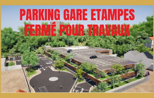 travaux parking parc relais gare etampes