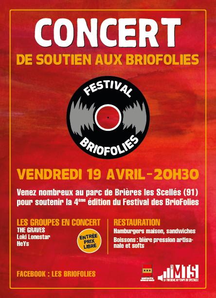 flyer concert de soutien aux BrioFolies