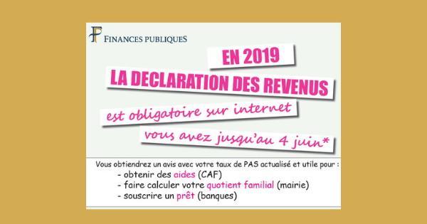 En Avril Il Faut Declarer Ses Revenus 2018