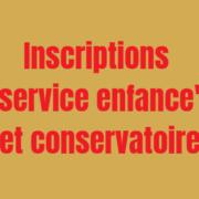 inscriptions conservatoire service enfance