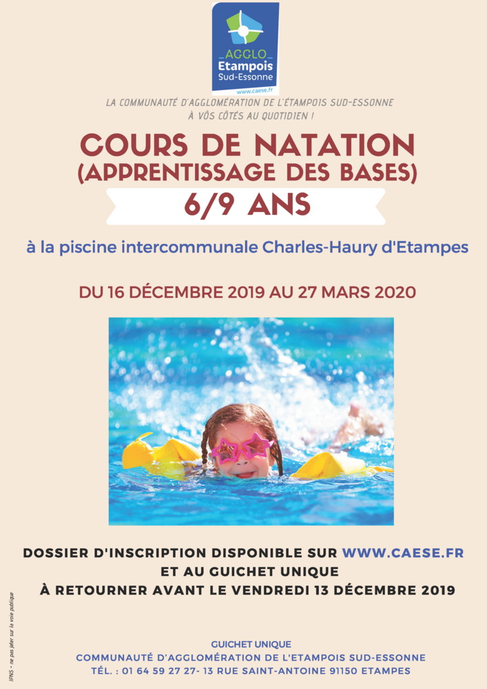 cours natation CAESE