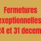 Fermetures exceptionnelles de la mairie de Brières les Scellés