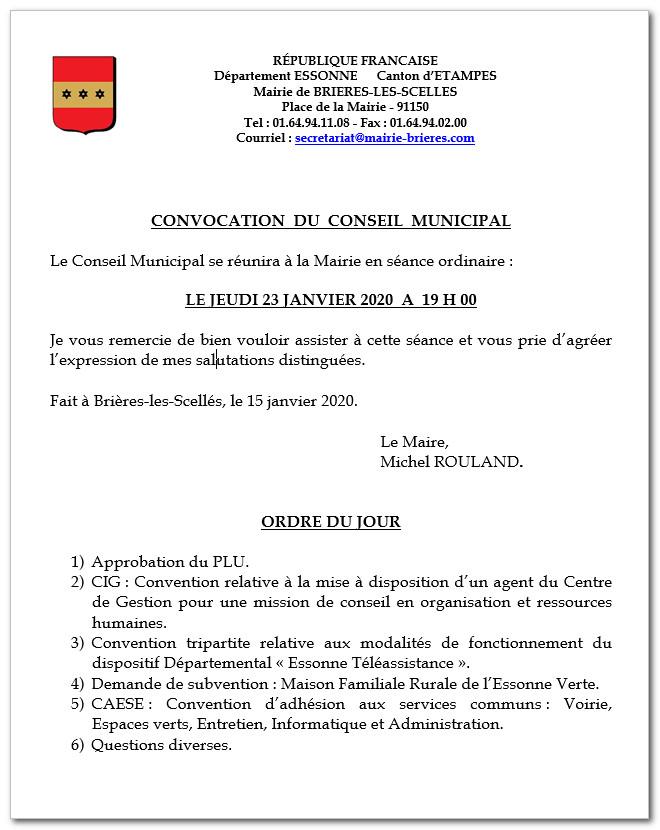 conseil municipal Brieres
