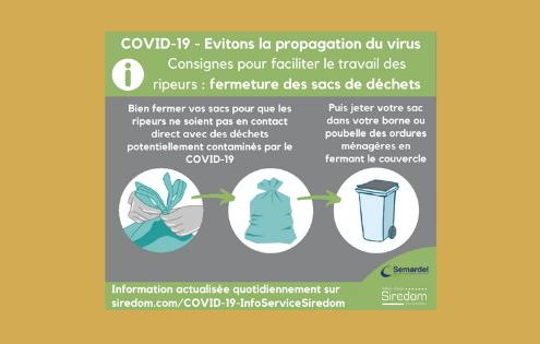 Déchets liés au COVID-19