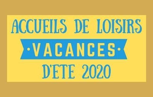 Accueils de Loisirs - vacances d'été 2020