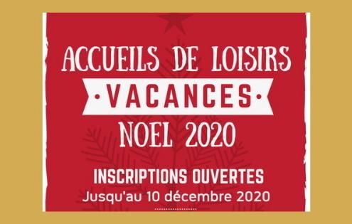 Accueil de loisirs vacances Noël 2020