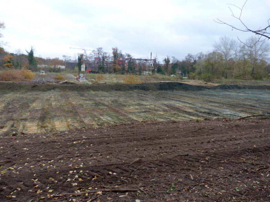 travaux bassin rétention des eaux pluviales - Brières les Scellés