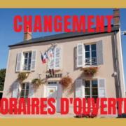 changements horaires ouverture de la mairie de Brières les Scellés