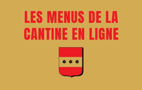 menus de la cantine de l'école de Brières